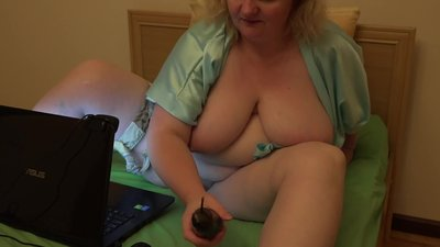 mature milf with big tits and hairy..
