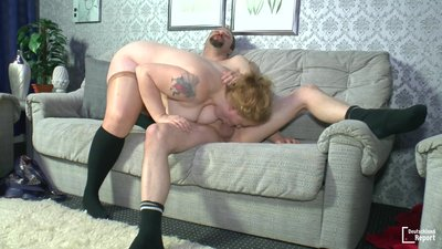 Mature BBW German lady gets drilled..