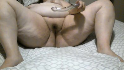 Bbw glass dildo