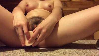 Super orgasm with my creamy big dildo