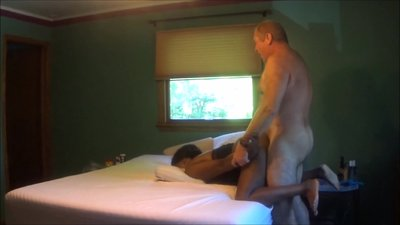 Hot Interracial Couple - Gettin' It..