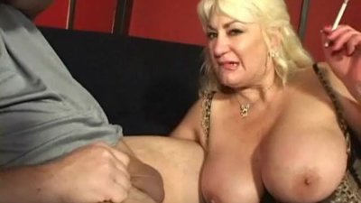 Smoking BBW Mature Being Facialized