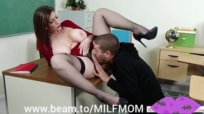 Bad MILF Teacher wants to punish a BAD..