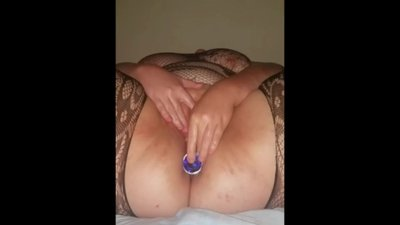 Granny BBW Pleasing Her Pussy On Her..