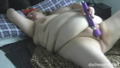 Dirty Duchess has fun with her toys..