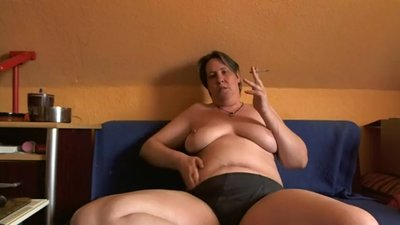 Mature BBW smoking