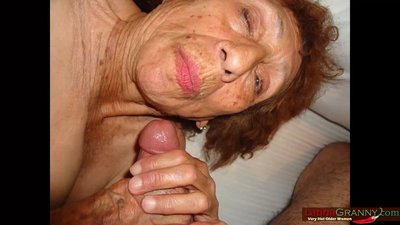 LatinaGrannY Hot Lusty Granny Blowjob..