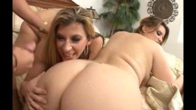 BBW threesome anal cum lick