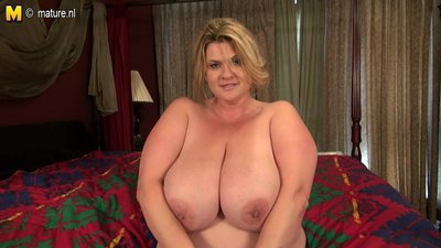 Big breasted mature BBW mother getting..