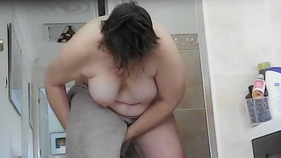 Epic views of busty wife bending as..