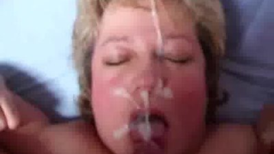 Mature wife facial 1