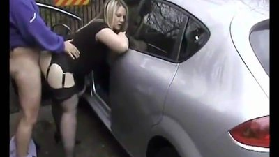 blonde pulls the car over for some..