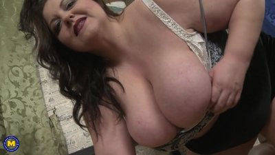 BIG busty mom needs your hard cock now