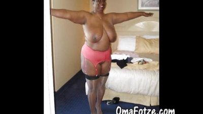 OmaFotzE Ebony and Black Mature Granny..