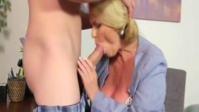 Fat Granny Secretary Enjoys Fuck And..